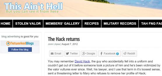 hack returns