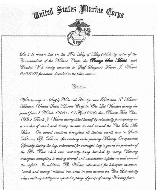 Usmc Promotion Warrant Template 100 Honorable Discharge Certificate