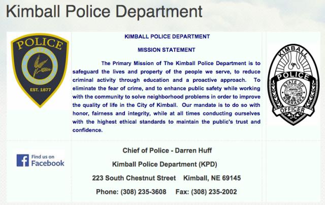Kimball, NE Police Chief