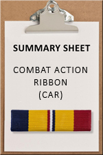 SUMMARY SHEET - CAR