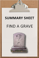 SUMMARY SHEET - Find a Grave