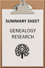SUMMARY SHEET - genealogy
