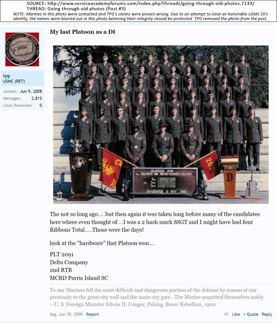US Marine Corps 28 Years, Recon, DI