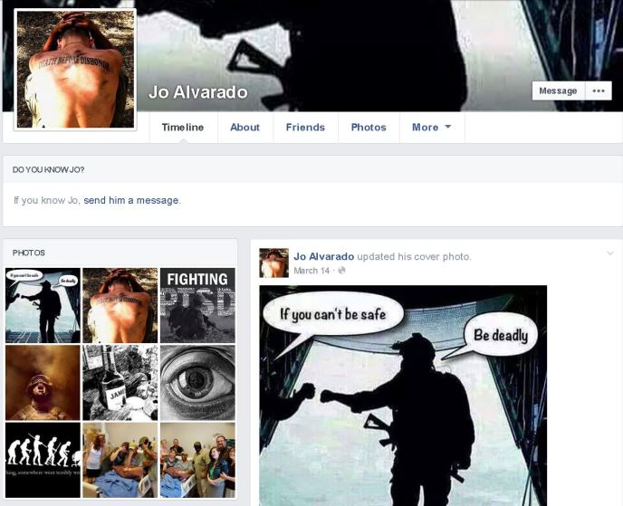 Joe Alverado Facebook Page