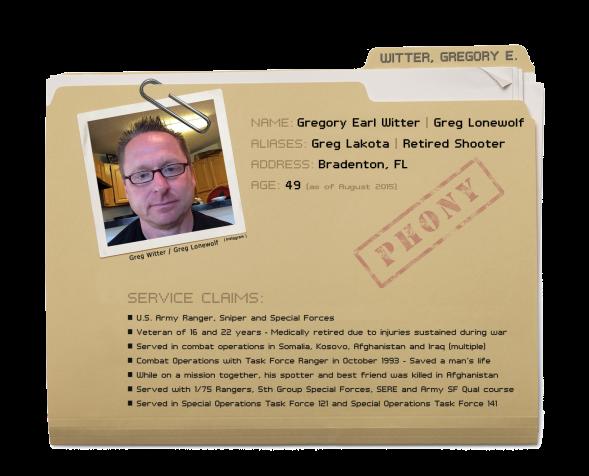 Gregory Earl Witter - Dossier