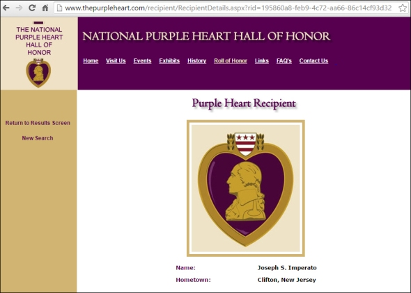 imperato-National Purple Heart Hall of Honor