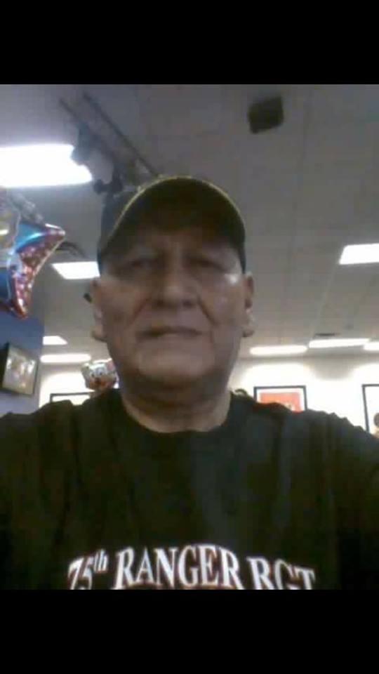 Raul wearing 75th Ranger