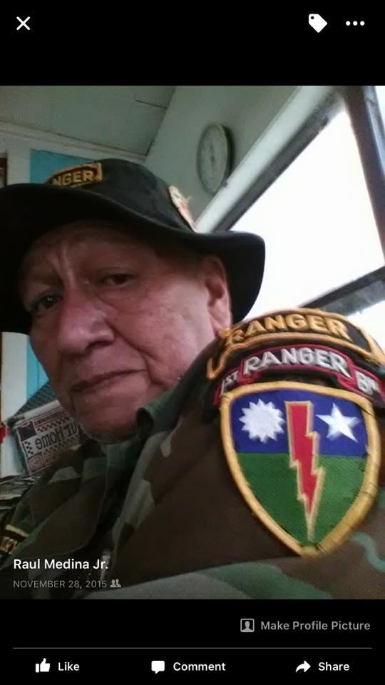 Raul wearing Ranger Tab