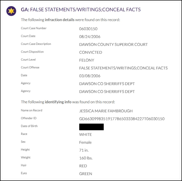 criminal-false statements